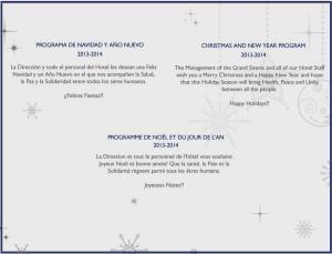 Programa Navidad y Año Nuevo